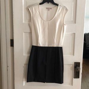 Sleeveless black and white dress